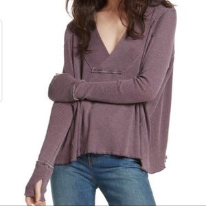 FREE PEOPLE Ocean View Plunging V-neck Top